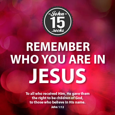 who you are in Jesus