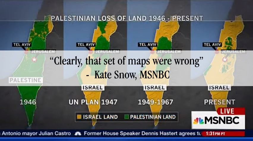 msnbc wrong map israel-arab conflict